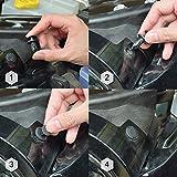 DEDC 240Pcs Plastic Car Retainer Clips Fasteners
