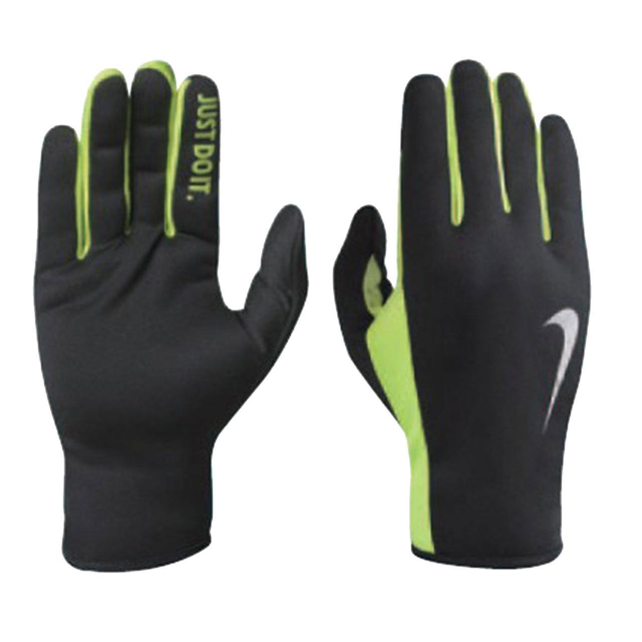 Mens Rally Run Gloves 2.0 - Black/Volt Nike