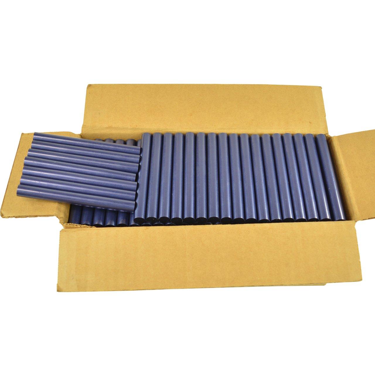 GlueSticksDirect Blue Colored Glue Sticks 7/16'' X 4'' 5 lbs