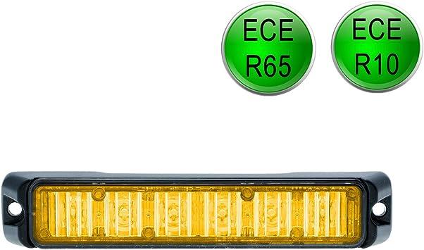 Led Martin R65 Freeway Frontblitzer 18w Orange Schwertransport Straßenräumer Auto