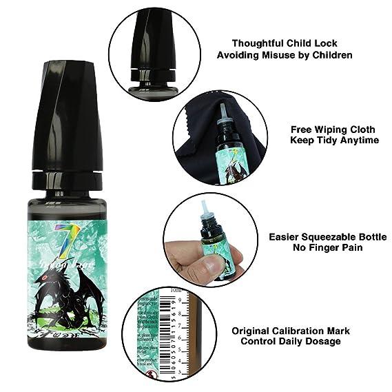 E Liquid, Seven Vape 7X10ml E-Liquido 70VG/30PG Hielo Menta Liquido Vaper Sin Nicotina para Cigarrillo Electrónico(Cian): Amazon.es: Salud y cuidado ...