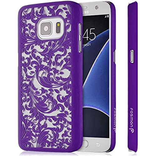 Galaxy S7 Case, Fosmon SLIM-R [Quill Design | Clear Back] Slim Fit Bumper Hard Case Cover For Samsung Galaxy S7 - Radiant Orchid Sales