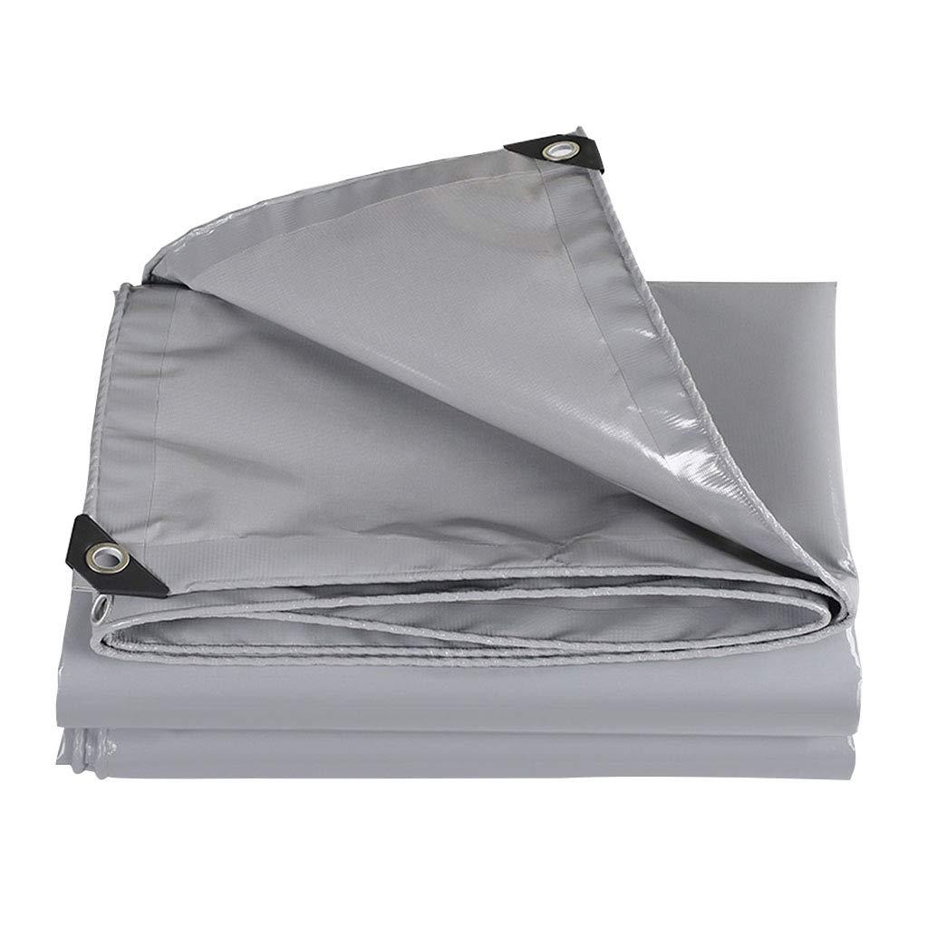 防水ターポリンリノリウム防雨生地肥厚アウトドアファブリックキャンバス耐久性/耐寒/不凍液/高耐熱難燃性 5X8M  B07QQPP1BX