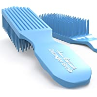 Felicia Leatherwood Blue Turquoise Detangler Brush - For Kinky, Curly, Wavy or Straight Hair - Tame Your Tangles Smooth…