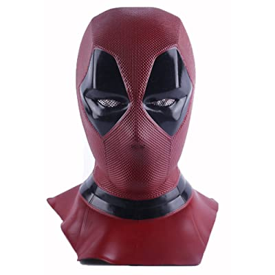 Yacn deadpool masque cosplay merveille & Deadpool costume, Deadpool Movie Style Cosplay masque pour déguisement - (masque complet, rouge, latex) (DP-mask)