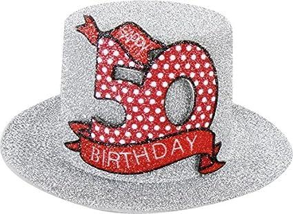 Muñeco de peluche sombrero con Clip 50 para fiesta de diversión Hutzylinder en Plata 50 Happy