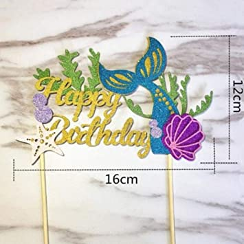 Decoración para tarta con diseño de letras de cumpleaños de ...