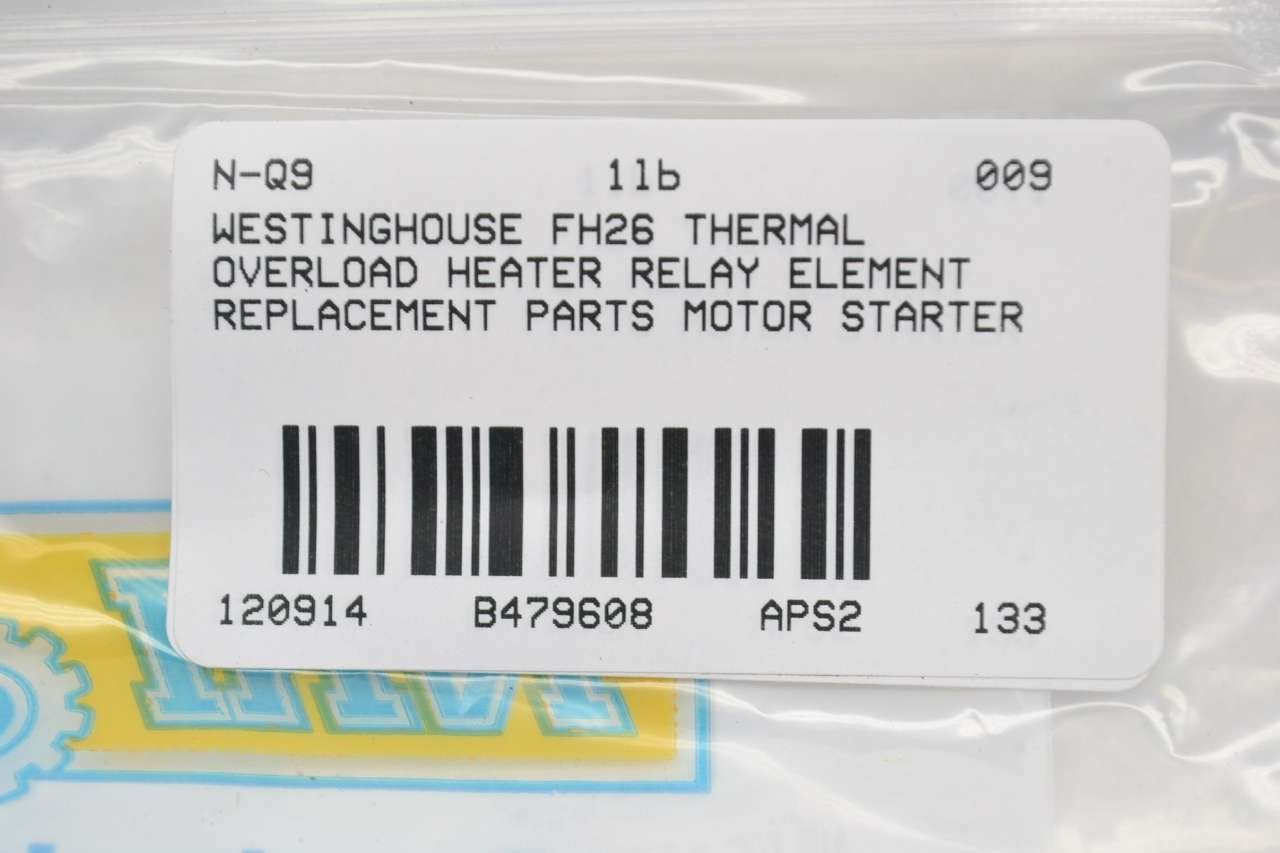 WESTINGHOUSE FH26 Overload Relay Heater Element