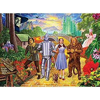 MasterPieces The - The Wizard of Oz Glitter 100Pc Glitter Puzzle, Licensed Puzzle Wizard of Oz, Assorted: Toys & Games