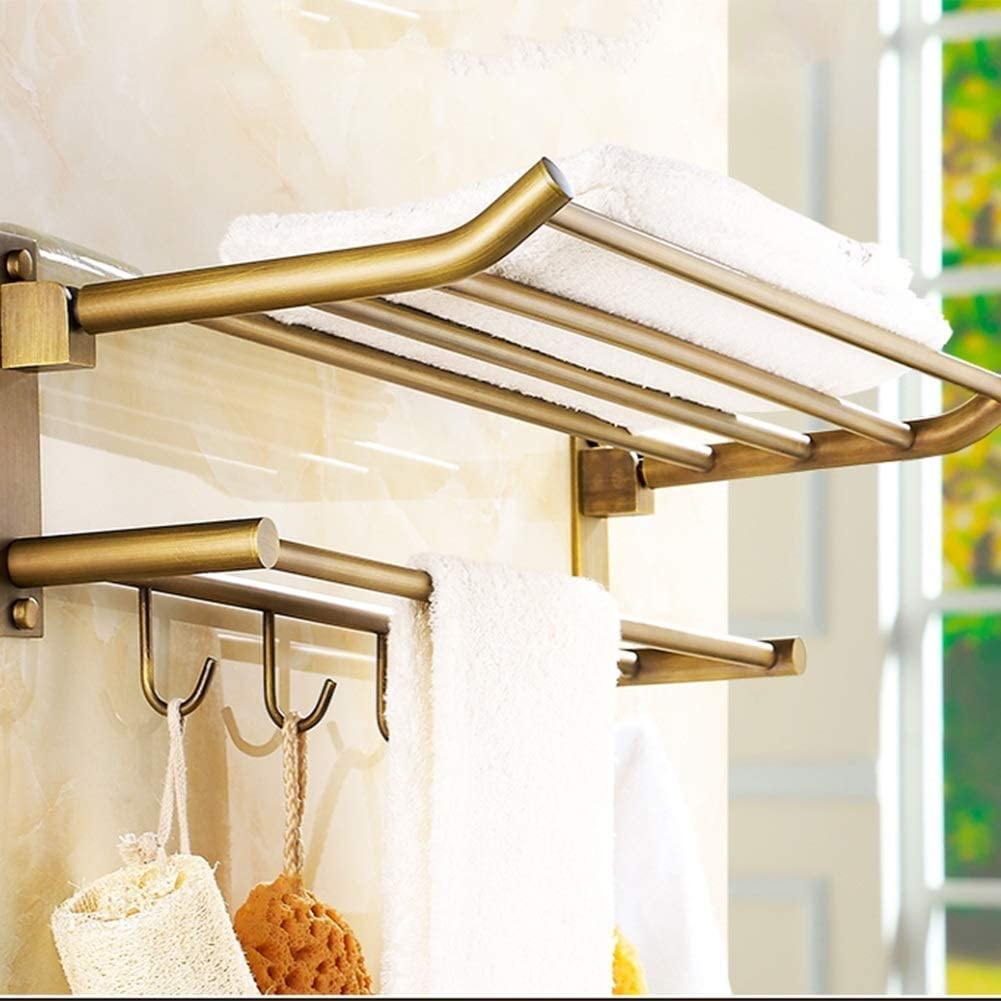 Size : 600x250x150mm Shower Holder Wall Shelf Shelf Rust Storage Shelf for Bathroom Equipment Towel Rack Hook Creative Bathroom Shelf