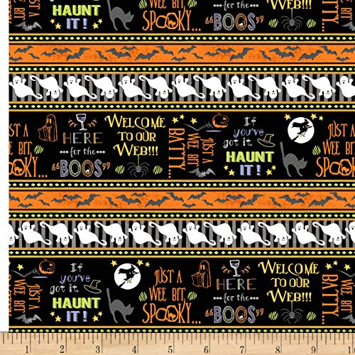 Here's for The Boos Halloween Fabric Ghost Stripe]()