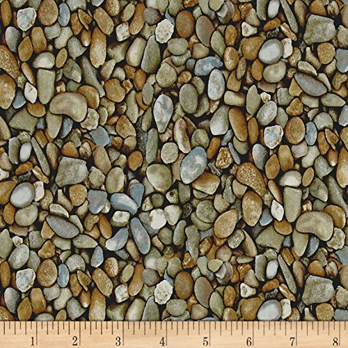 (Blank Quilting Natural Treasures 2 Stones Grey Fabric by The Yard)