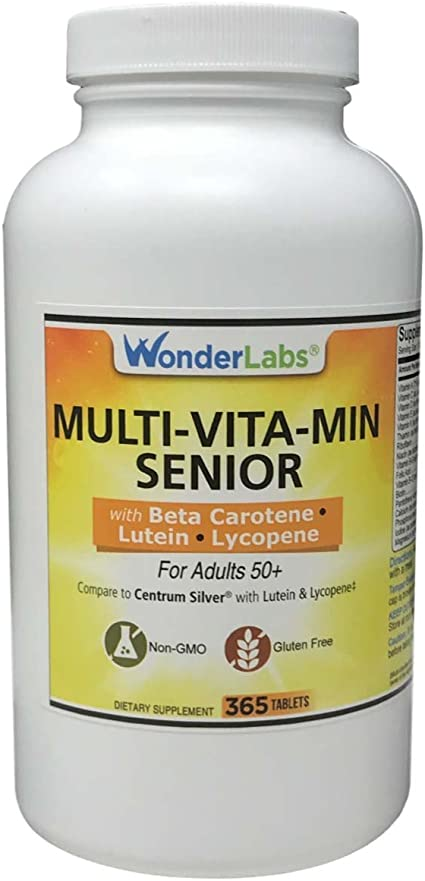 Amazon Com Multi Vitamin Multi Mineral Compare To Centrum Silver Multivitamin Multimineral With Beta Carotene Especially For Adults 50 Plus 365 Tablets 2914 Health Personal Care