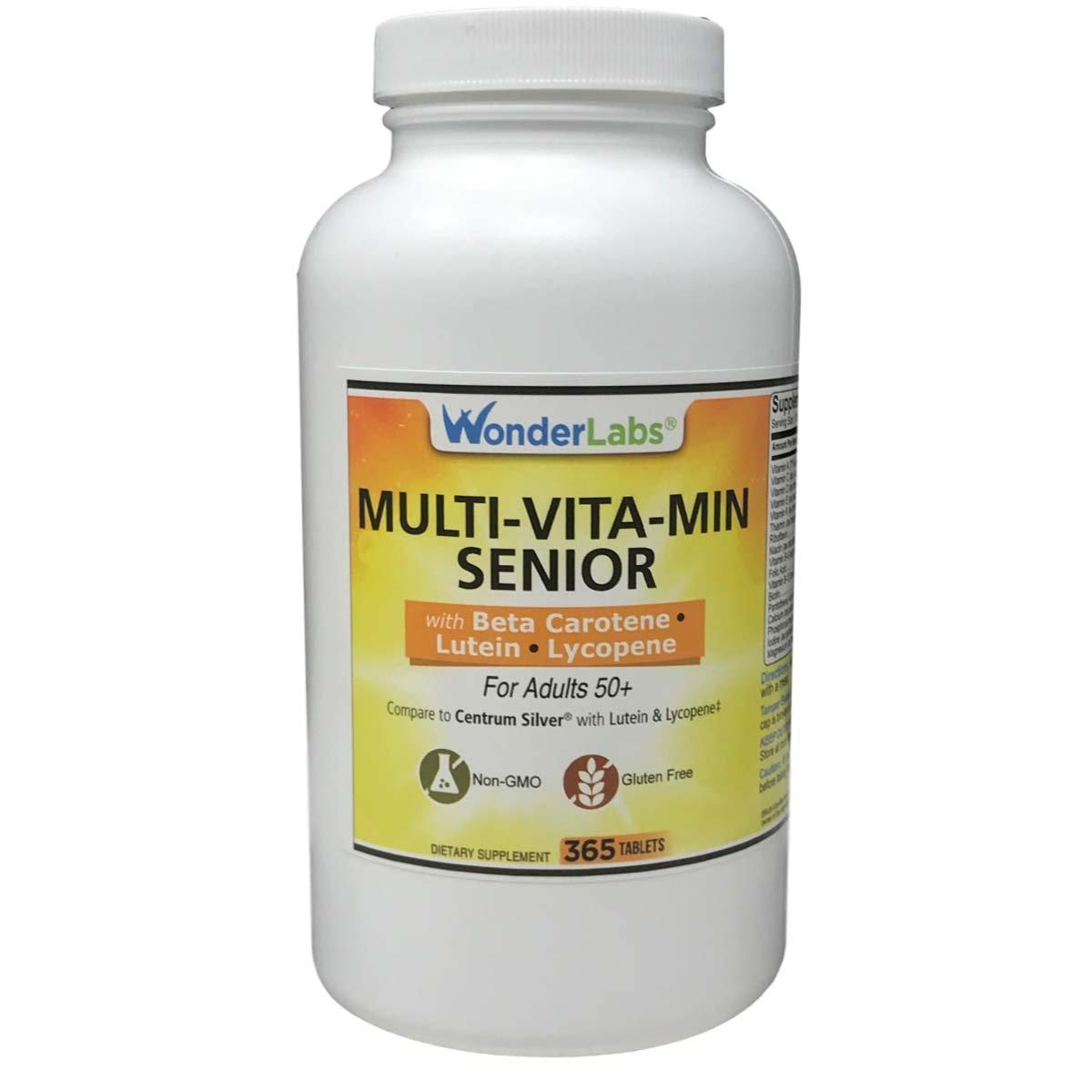 Multi-vitamin Multi-mineral Compare to Centrum Silver® Multivitamin Multimineral with Beta Carotene Especially for Adults 50 Plus - 365 Tablets #2914