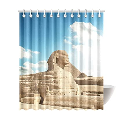 Image Unavailable Not Available For Color Egyptian Sphinx And Pyramid Shower Curtains 72 X 84