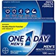 One A Day Men's Health Formula Multivitamin, Pack of 2, 100 counts each