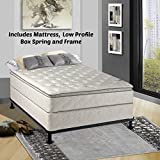 Continental Matress Mattress, 10-Inch Fully Assembled Pillow Top Orthopedic Mattress and 5-inch Box Spring with Frame , Full