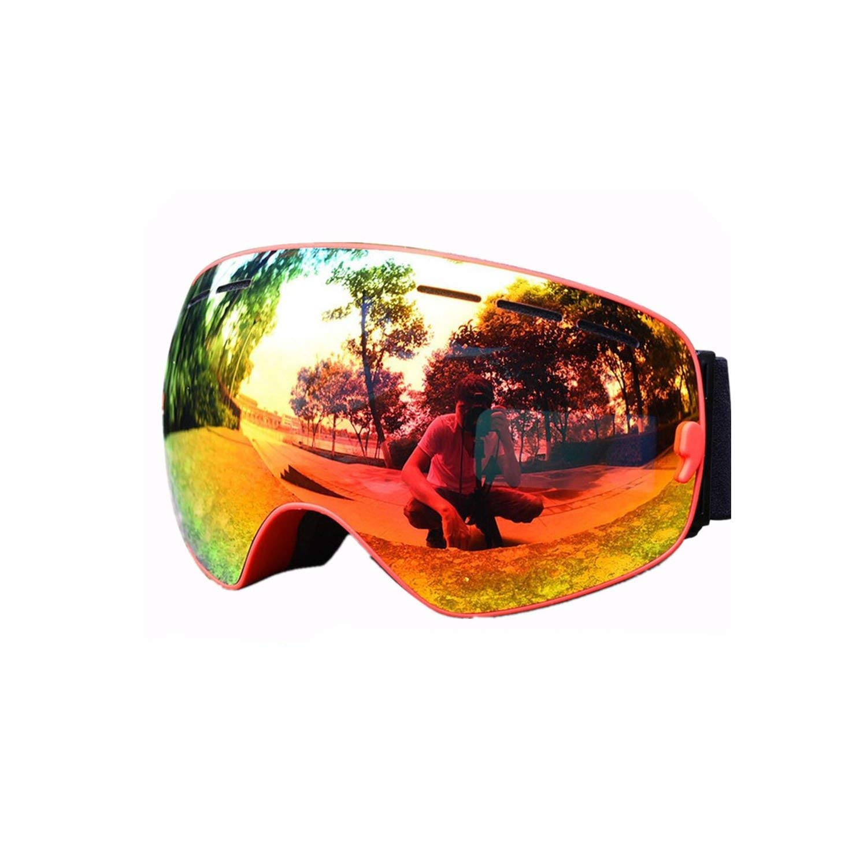 RED LENS Snow Snowmobile De Skiing Eyewear