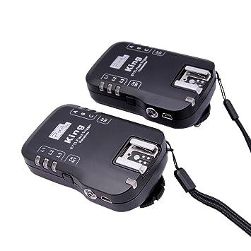 PIXEL King/Canon - Disparador de flash para Canon, negro: Amazon.es: Electrónica