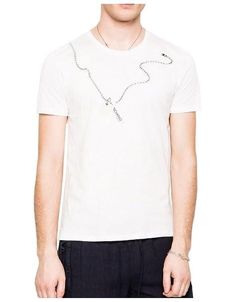 GUESS by Marciano - Camiseta by Marciano Chain Blanca: Amazon.es: Ropa y accesorios