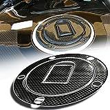 zzr600 carbon fiber - 3D Gas Tank Fuel Cap Cover Protector Pad for Kawasaki Ninja ZX-10R/6R/9R (Carbon Fiber Look)