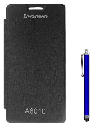 TBZ Flip Cover Case For Lenovo A6010 With Stylus Black