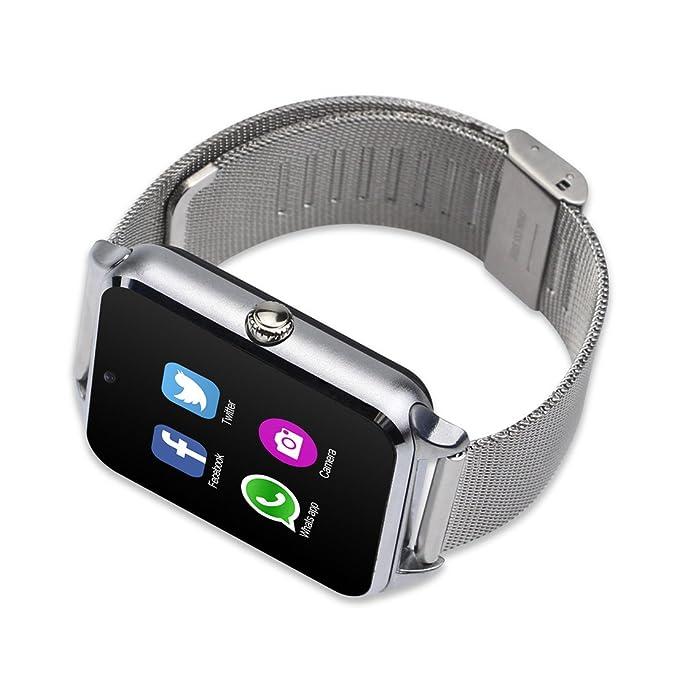 fatmoon Z60 GSM 2 G bluetooth Smart reloj teléfono con cámara/podómetro/anti-lost, SIM reloj teléfono celular para Android iPhone, Samsung Galaxy Note Serie ...