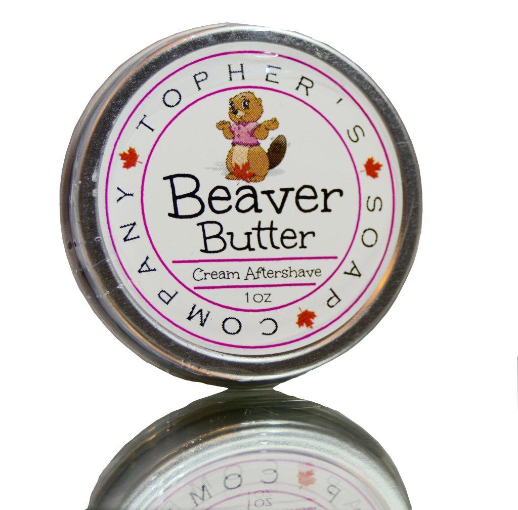 Beaver Butter - Topher's Beard Company - Soothing female shaving balm for rash and irritation reduction Topher' s Beard Company