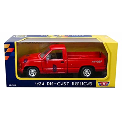 Motormax 1992 Chevy 454 SS Pickup Truck 1/24 Scale Diecast Model Car Red: Toys & Games