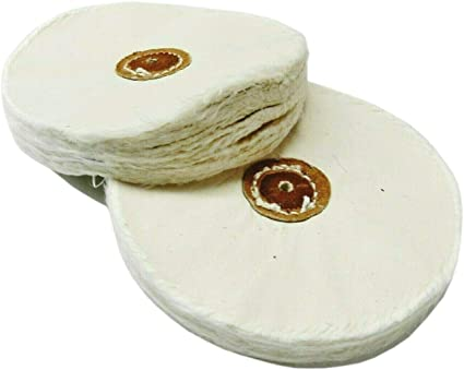 Combed Finex Muslin Buff 50 Ply Shellac Center 5 Inches BUF-655.50