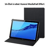 "HUAWEI MediaPad T5 10 Wi-Fi Tablette Tactile 10.1"" + Un Étui à rabat Huawei MediaPad Offert (16Go, 2Go de RAM, Écran Full HD 1080p, Android 8.0, Bluetooth, Noir)"