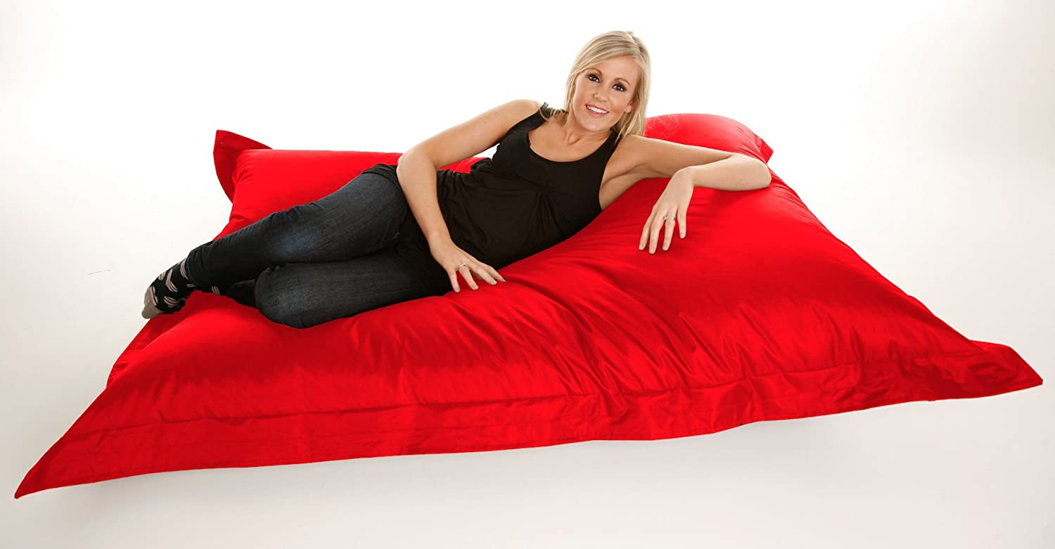 extra large giant beanbag in red  xxxl xcm  indoor  - extra large giant beanbag in red  xxxl xcm  indoor  outdoor largegarden waterproof bean bag amazoncouk kitchen  home