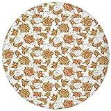 Round Rug Mat Carpet,Paisley,Authentic Ottoman Art Vivid Flowers - Best Reviews Guide
