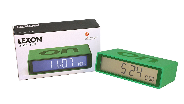 Flip On/Off Alarm Clock Green