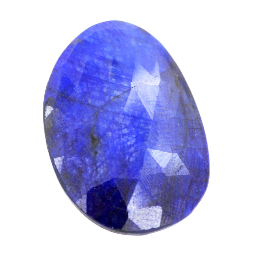 skyjewels 38 Carat Natural Blue Sapphire Certified Gemstone