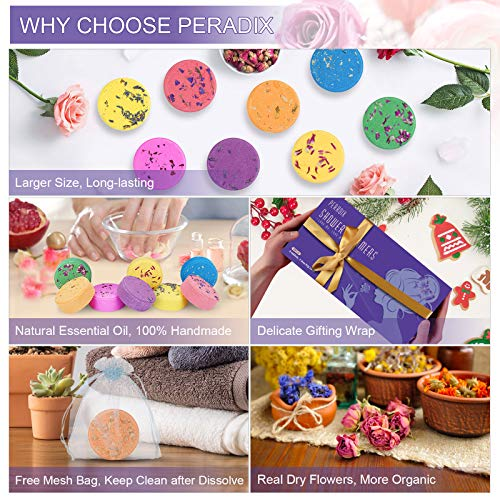 Peradix Shower Steamers - Mothers Day Gifts for Mom - [8X] Shower Bombs for Aromatherapy and Stress Relief - Great Birthday Gifts for Women Who Have Everything, Unique Gift for Women