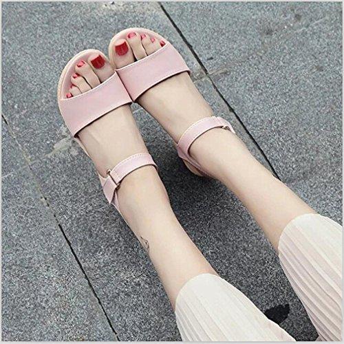 Hunpta Damenschuhe Wedges Sandalen Plattform Open Toe Plattform Schuh Damen Schuhe Rosa