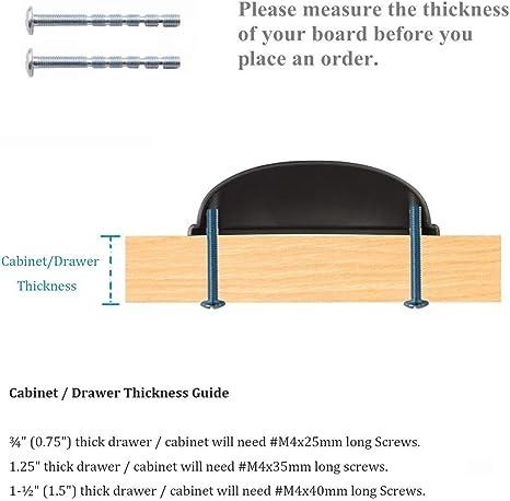 Kullavik 10 Pack Mordern Cabinet Hardware 3 1116 93mm Bin Cup Drawer Handle Pull 3 Inch 76mm Hole Centersflat Black