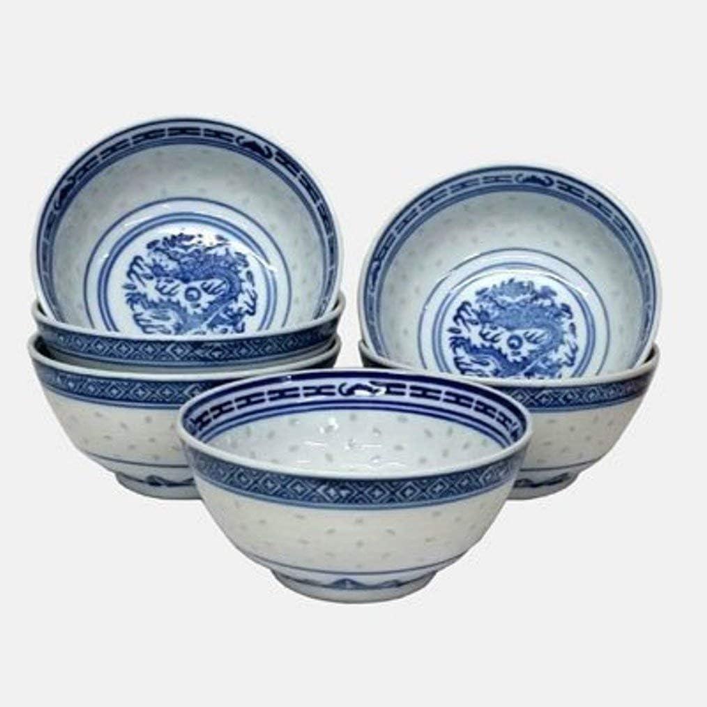 Set de 6 pequeño Chino Oriental Porcelana