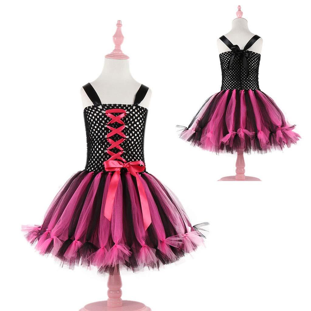 Brillanto Vestidos de Princesa Ni/ña Beb/é Fiesta Bautizo Tut/ú de Pirata Ballet Falda Disfraces Halloween Carnaval Infantil 1 a 12 A/ños
