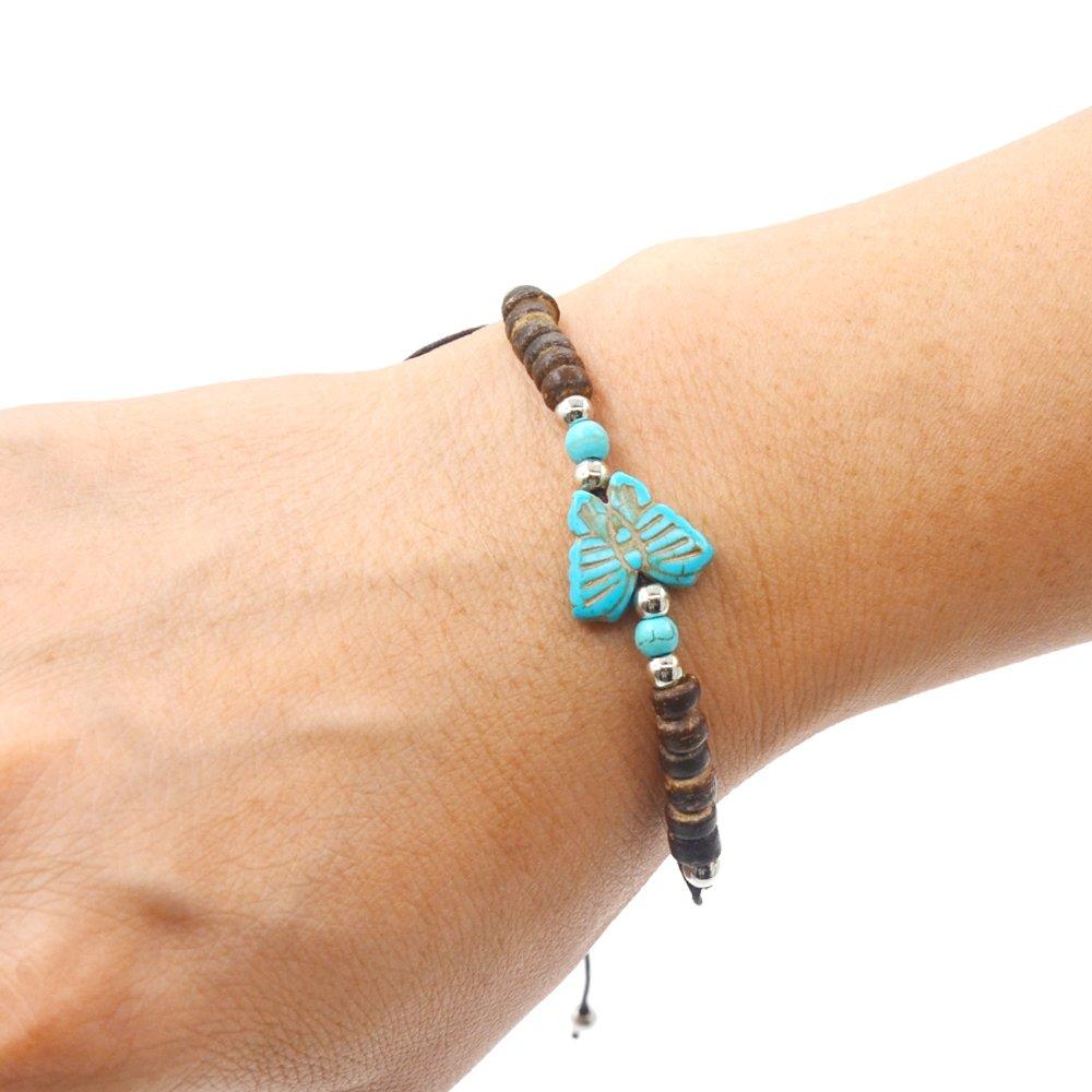 YoKII 3pcs Assorted Turtle Bracelet Hawaiian Sea Turtle Starfish Bracelet Handmade Bracelet