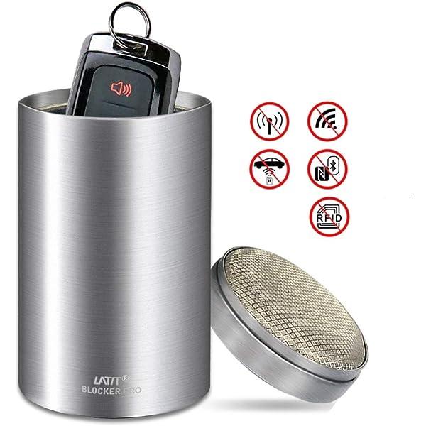 Faraday-Tasche zum Schutz von Autoschl/üsseln f/ür schl/üssellose Fahrzeuge Wasserfest Veganes Leder SCHILD 2x Verbesserter Signal-blockierender Beutel f/ür Autos RFID-Blocker f/ür Autoschl/üssel