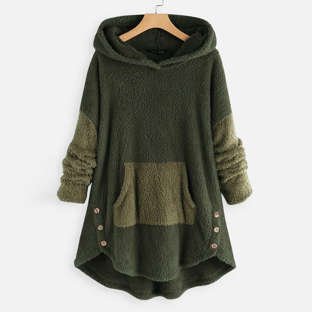 Women Button Down Coat Jacket Plush Faux Shearling Coat Parka / Outwear