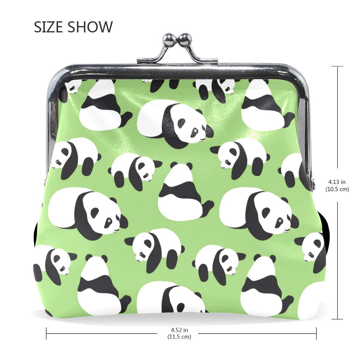 Amazon.com: Animal Panda - Monedero de piel con cierre de ...