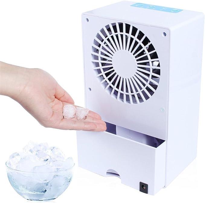 JiaMeng Humidificador evaporativo del refrigerador del circulador de Aire del Ventilador del Aire Acondicionado Mini para Mesa, Cochecito de bebé, Cama, Camping, Coche, Oficina, Casa y Aire Libre: Amazon.es: Ropa y accesorios