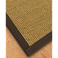 NaturalAreaRugs Trellis Natural Sisal Area Rug, Made in USA, Fudge Cotton Border, Durable, Stain Resistant, Anti-Static, Environmental/Earth-Friendly (3 Feet X 5 Feet)