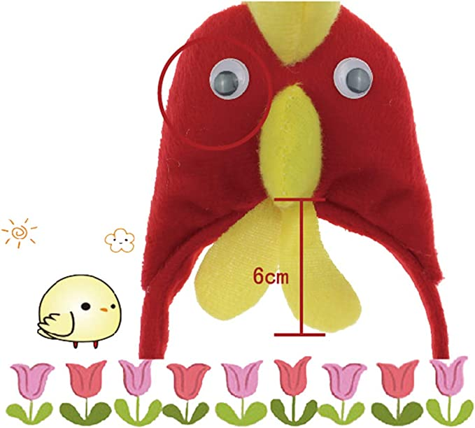 Amosfun - Diadema para disfraz de gallo para niños: Amazon.es: Belleza