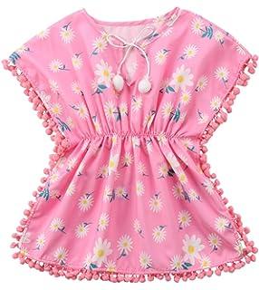 5e8fac7192 Vawal Toddler Baby Girls Swim Cover-ups Beach Sundress Summer Tassel Loose  Bikini Cover Swimwear