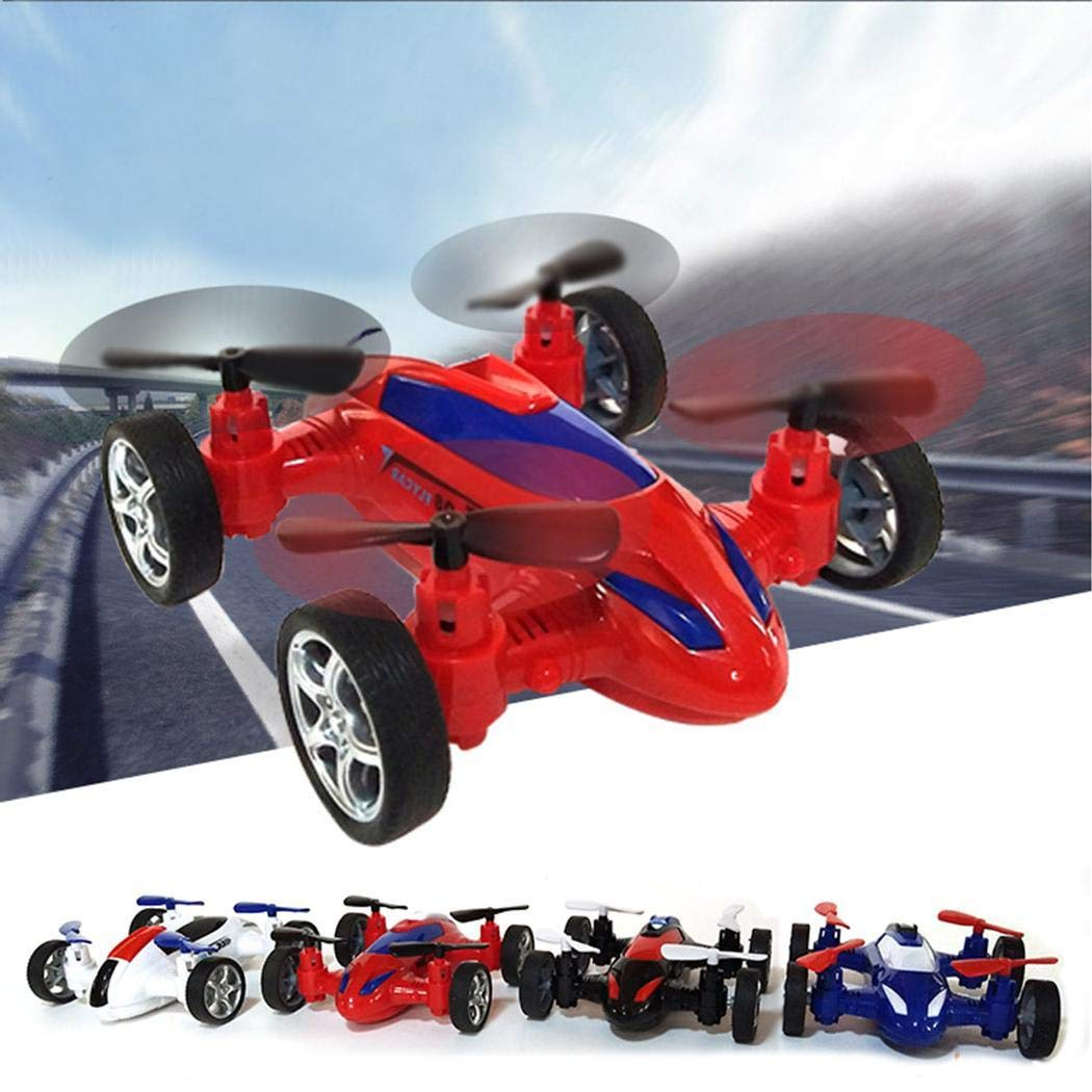 Kecooi Bulges Quadcopter Drone Flying Car , Durable Children Remote Control Inertia Toy Car Mode Push & Pull Toys