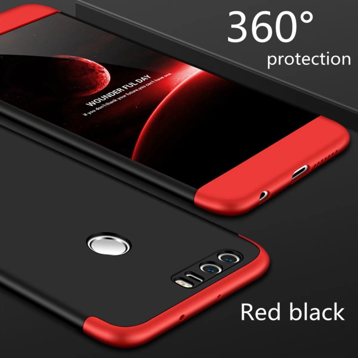 G-hawk Honor 7X /Étui Rigide Slim Fit 3 en 1 Protection Compl/ète du Corps /à 360/°/Étui de T/él/éphone Portable en Trois Parties